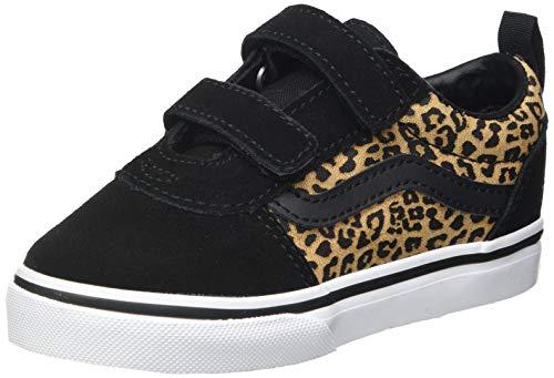 Vans Baby Mädchen Ward V-Velcro Suede Sneaker, (Cheetah) Black/White, 24 EU