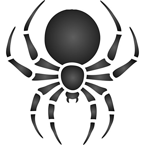 Araña plantilla–reutilizable de pared plantillas para pintar–mejor calidad Halloween Ideas–uso en paredes, suelos, tejidos, cristal, madera, terracota, y más..., large