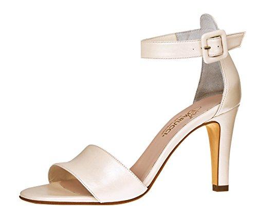 Fiarucci Brautschuhe Cherelle - Pumps High Heels - Ivory Leder - Gr 36 EU 3 UK