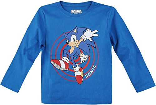 Sonic the Hedgehog Character Männer Langarmshirt blau 140 100% Baumwolle Fan-Merch, Gaming
