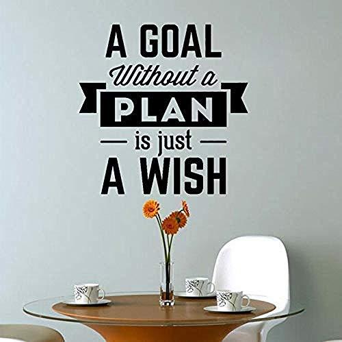Ungeplantes Ziel ist Wunsch inspirierende Dekoration PVC-Aufkleber Wandaufkleber Wohnzimmer Schlafzimmer Kinderzimmer 55X55Cm