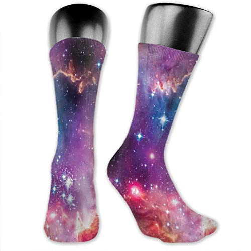 vnsukdlfg Compression Medium Calf Socks,Magellanic Cloud Stars And Colorful Fantastic Cosmic Universe View Pattern