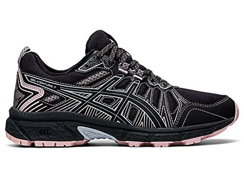 ASICS Women s Gel-Venture 7 Running Shoes  8.5  Graphite Grey/Black/Pink