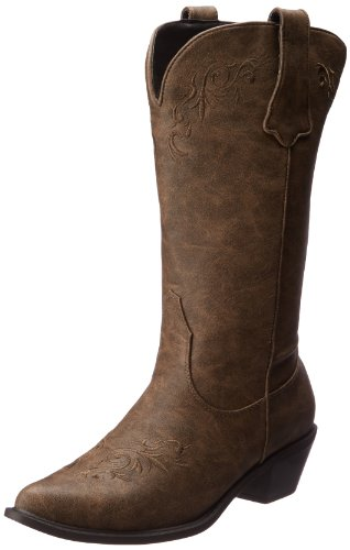 Roper Women's Western Embroidered Fashion Boot Tan Boot 8.5 B - Medium