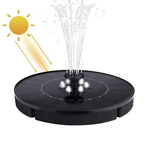 Osairous Solar Teichpumpe, Solar Springbrunnen 3W, Wasserpumpe Solar mit LED-Licht 9V, für Outdoor-Teich Pool Aquarium Garten