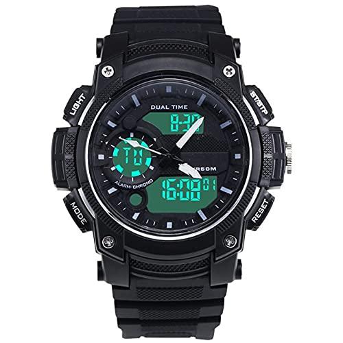 WNGJ Nuevo Reloj DE Digital Digital Moda DE Moda Abajo Reloj Digital Digital Multi-FUNDAJE, Reloj DE Deportes DE Lumina LUMINOUSULT, (Negro) Green
