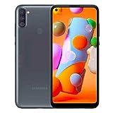 Samsung Galaxy A11 (32GB, 2GB) 6.4' Dual SIM GSM Unlocked, Global 4G LTE International Model (T-Mobile,AT&T,Metro,Cricket) A115M/DS (64GB SD Bundle, Black)