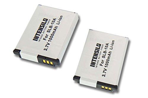 INTENSILO 2X Li-Ion Akku 1000mAh (3.7V) kompatibel mit Kamera Camcorder Video Silvercrest Action Cam SCAA 5.00 A1 Ersatz für AT-S60, FJ-SLB-10a.