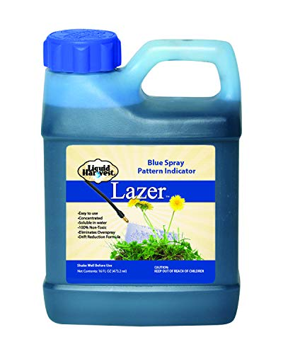 Liquid Harvest Lazer Blue Concentrated Spray Pattern Indicator - 16 Ounces