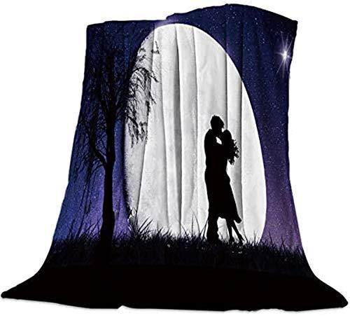 Manta de franela de forro polar para cama de matrimonio, ligera y ultra suave, acogedora para todas las estaciones, manta de microfibra de felpa cálida para sofá cama, 127 x 152 cm