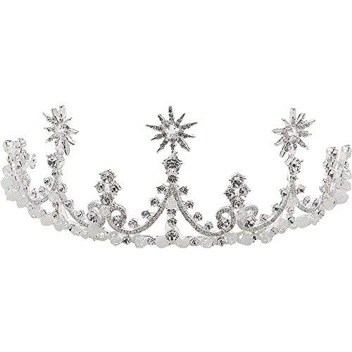 Q_xnts Accesorios para el Cabello de Novia Corona de Tiara Nupcial Coreano...