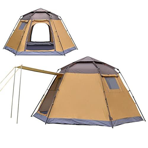 GQYYS Tienda de Campaña 4-6 Personas Tienda de Camping Ligero Impermeable Anti Viento Exteriores Tienda de Campaña para Senderismo Festival Camping Mochila, Tienda de campaña Familiar para 5 Personas