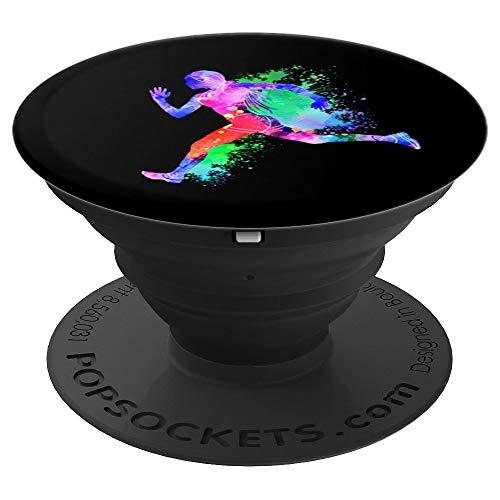 Geschenk für Läufer beim Laufen Rennen Sprinten - PopSockets Ausziehbarer Sockel und Griff für Smartphones und Tablets