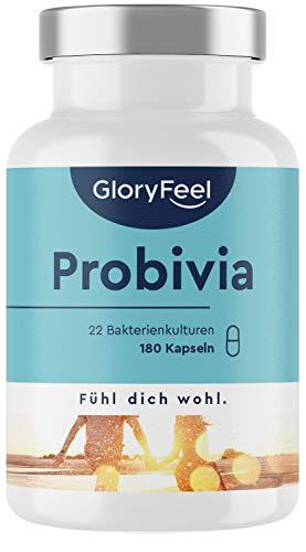 Probivia Kulturen Komplex - Vergleichssieger 2020* - 22 Bakterienstämme + Inulin - 180 magensaftresistente Kapseln - Laborgeprüft hergestellt in Deutschland