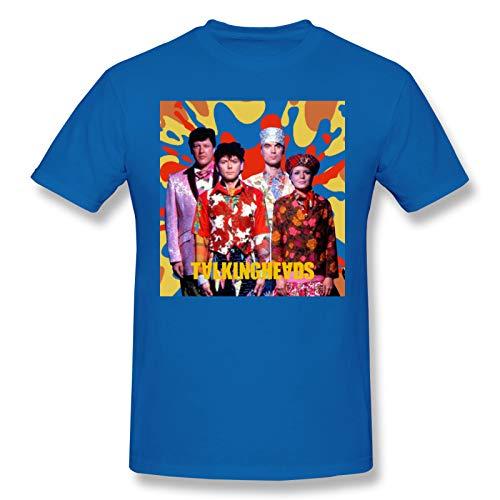 AJY Talking Heads -5 Men's Basic Short Sleeve T-Shirt Blue 6X-Large