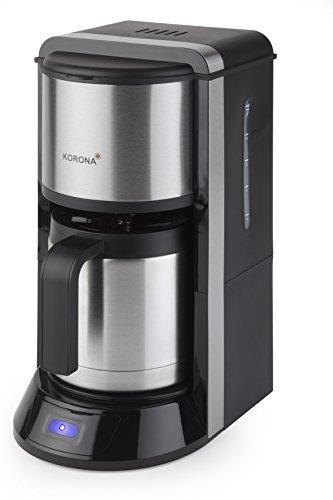 Korona 10291 Kaffeeautomat Thermo schwarz Edelstahl, 1000 Watt, hochwertig in Form und Verarbeitung