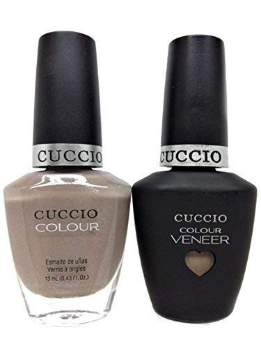 CUCCIO COLOUR - LED/UV Gel and Nail Lacquer DUO pack .5oz/15ml (6118 - CREAM & SUGAR) by Cuccio