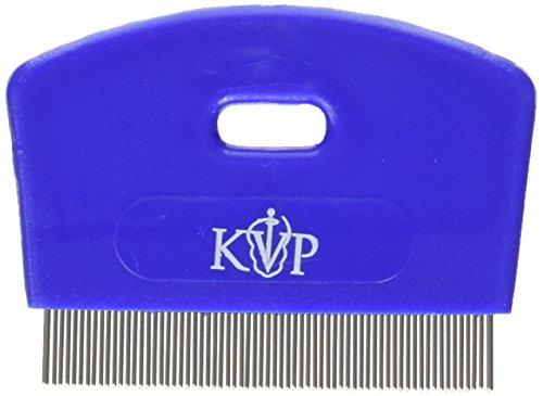 KVP Flohkamm für Katzen Zähne Edelstahl mit Kunststoff Griff