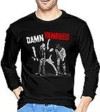 light Saber DUN Damn Yankees Camisetas Hombre Manga Larga Cuello Redondo Camisa Casual Impreso Camiseta Razón Regalo