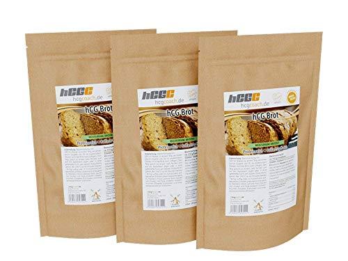 Low Carb Brotbackmischung | hCG-Diät geeignet | 3er Pack (3 x 250 g) 3 x Mediterran