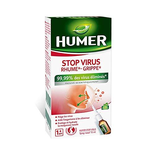 Humer - Spray nasal Stop Virus - Prévention Rhume et Grippe - 99,99% des virus éliminés - 15ml