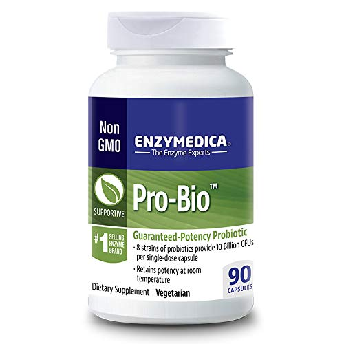 Enzymedica, Pro-Bio, Shelf-Stable Probiotic Supplement to Support Healthy Digestion, 10 Billion CFU, Vegetarian, 90 capsules (90 servings)