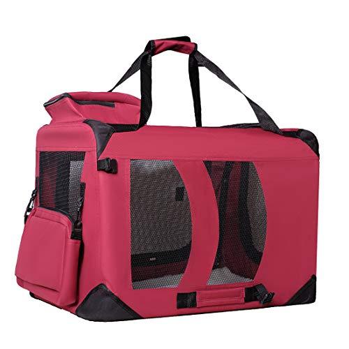 Zedelmaier Faltbare Hundebox Transportbox Hundekäfig mit verschiedenen Größen und Farben (S - 50 x 35 x 35 cm, Rot)