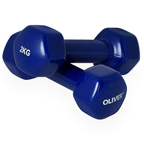 OLIVER Vinyl Hantel 2 x 2,0 kg Hantelset Kurzhanteln Fitness Aerobic Training