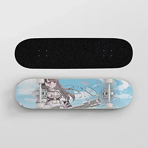 Nixi888 Monopatín de Anime for Azur Lane Pamiat Merkuria, 7 Capas de Arce Canadiense Trucos de Madera Skateboard Mini Mini Skateboard Toy Deck Un Regalo for los fanáticos de Anime