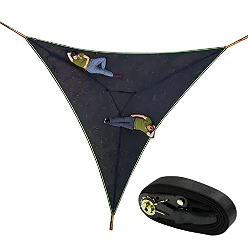 ZCED Hamaca para Varias Personas con Diseño de 3 Puntos, Hamaca Gigante para Acampar aérea,Tienda de Campaña Hammock Tree House Air Sky, Hamaca Triangular para árboles para Viajes