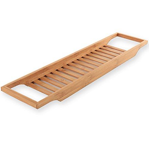 Torrex® 30541 Balda de bambú en varios tamaños Bandeja de baño (64 x 15 x 3,5 cm)