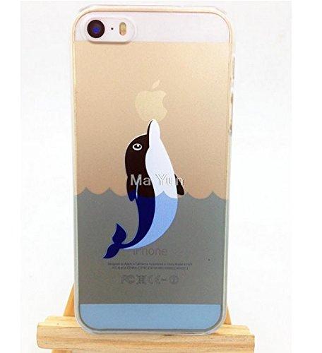 Cover iPhone 5/5S, Delfino, Custodia Telefono Portatile, Rigida