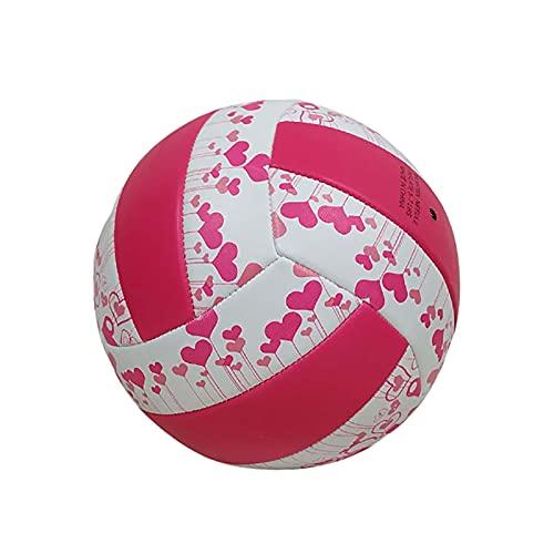 HYFDGV Voleibol Playa Voleibol Tamaño 5 Suave Pvc Interior Exterior Voleibol para Piscina, Gimnasio Entrenamiento Playa Jugar con 1 Bomba de Bola con Aguja Voleibol (Color: B)