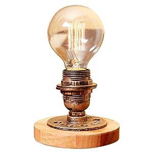 XAJGW Lámpara de Mesa Lámpara de Mesa Vintage Lámpara de Escritorio Industrial de Hierro Forjado con Interruptor de atenuación Accesorio de lámpara Antiguo Decoración de Loft for Sala de Estar