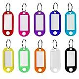 10 Llaveros con Etiqueta,viene con la etiqueta intercambiable ,Llaveros para Hotel Escuela de Oficina EquipajeHogar 10 Colores