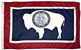 FlagSource Wyoming Nylon State Flag, Made in the USA, 3x5