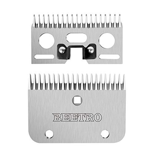 BEETRO Horse Shears Replacement Blades, Professional Stainless Steel Clipper Blades for Horse Equine Goat Pony Cattle