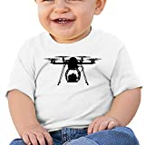 Cool Drone Bro Baby T-Shirt Custom Personalized Baby Bodysuit One-Piece Baby Clothes White 12m