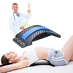 Equinox Medical Lumbar Relief Back Stretcher, Upper and Lower Lumbar Spine, Orthopaedic Back Pain Relief and Posture Support, Adjustable Levels