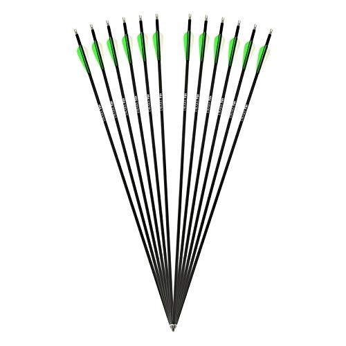 Komplettpfeil Drake Fire Carbon-Hybrid Pfeil für Bogenschießen - 30 Zoll - 12er Pack
