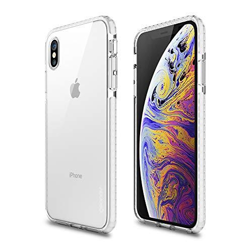 Capa protetora Impact Pro iPhone XS Max, TPU flexível nas extremidades e ajuda na absorção de impactos, Transparente/Branco, IPIXMW, Geonav