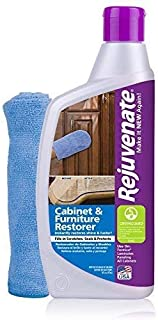 Rejuvenate Cabinet & Furniture Restorer Fills in Scratches - Seals and Protects Cabinetry MegaPACK 2Pack (13ounce)