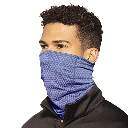 Copper Fit unisex adult Guardwell Face Cover and Neck Gaiter, Blue, US