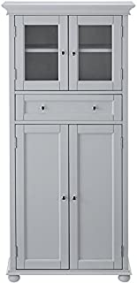 Home Decorators Collection Hampton Bay 1 Drawer Tall Bath Cabinet, 4-Door, Dove Grey