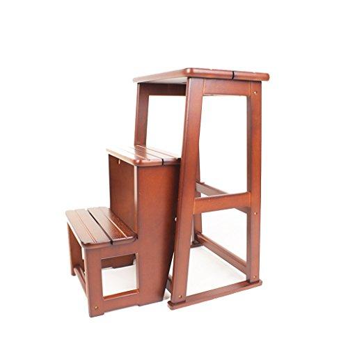Zfggd Hockerbank, Fußbank aus massivem Holz, klappbare Holzbank für zu Hause (Farbe : #4)