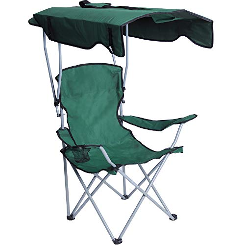 Livebest Portable Camping Chairs with Shade Canopy Original Green-Armrest Cup Holder & Carry Bag Folding Chairs for Outdoor Camping Hiking Beach,...