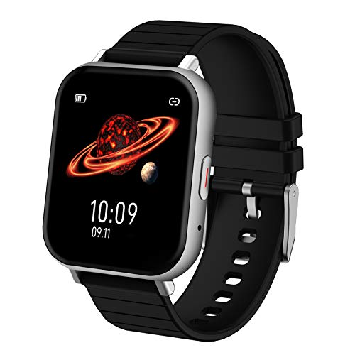 LXBB Smart Watch 1.54'Monitor Actividad con Pantalla Táctil Completa Rastreador Actividad Física, para Teléfonos Android iOS, Monitor Presión Arterial con Frecuencia Cardíaca A Prueba Agua IP68