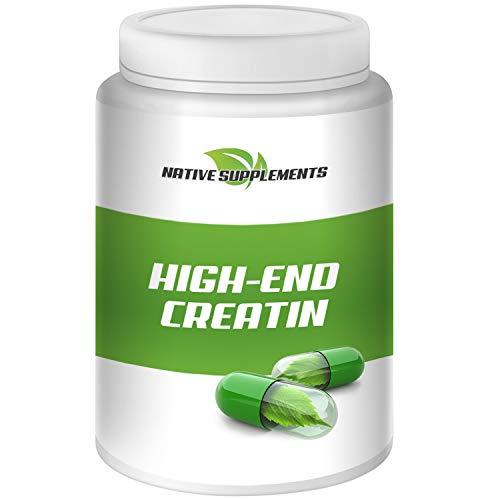 High End Creatin, 500g pro Dose, Hochdosiert, Kreatin Monohydrat mit Taurin und Boxhornklee Extrakt, Hardcore Energy, Muskelaufbau Nahrungsergänzungsmittel