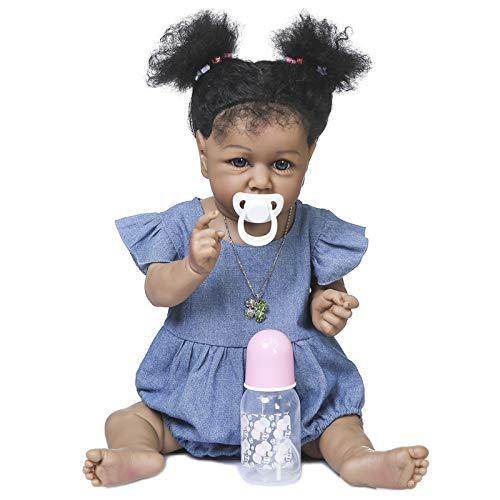 Goolsky Bambola Neonato, Bambola Reborn, in Silicone per Tutto Il Corpo da 500 mm Giocattolo da Bagno Impermeabile per Bambini
