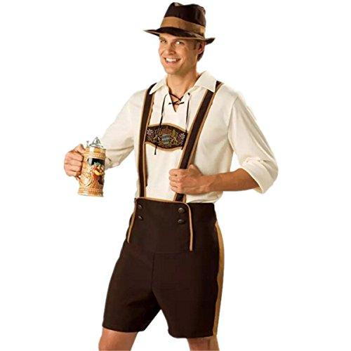 Disfraz de Bavaro de hombre traje de Oktoberfest traje Regional de Baviera para Halloween Carnaval Talla L